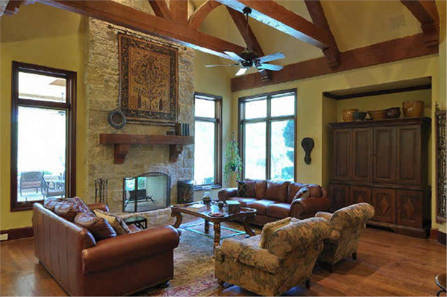 Family Room of this 5-Bedroom,7823 Sq Ft Plan -7823