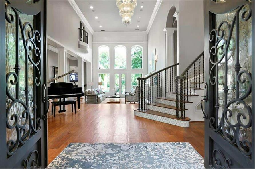 Entry Hall: Foyer of this 5-Bedroom,7823 Sq Ft Plan -195-1169