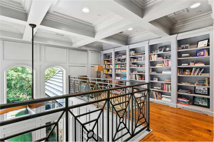 Home Office: Library of this 5-Bedroom,7823 Sq Ft Plan -195-1169