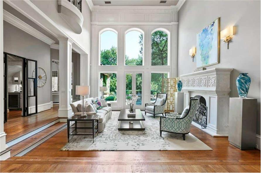 Living Room of this 5-Bedroom,7823 Sq Ft Plan -195-1169