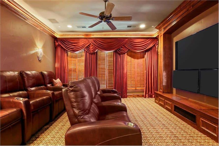 Media Room of this 5-Bedroom,7823 Sq Ft Plan -195-1169