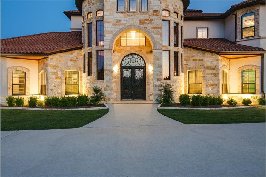 Front Door of this 5-Bedroom,6121 Sq Ft Plan -6121