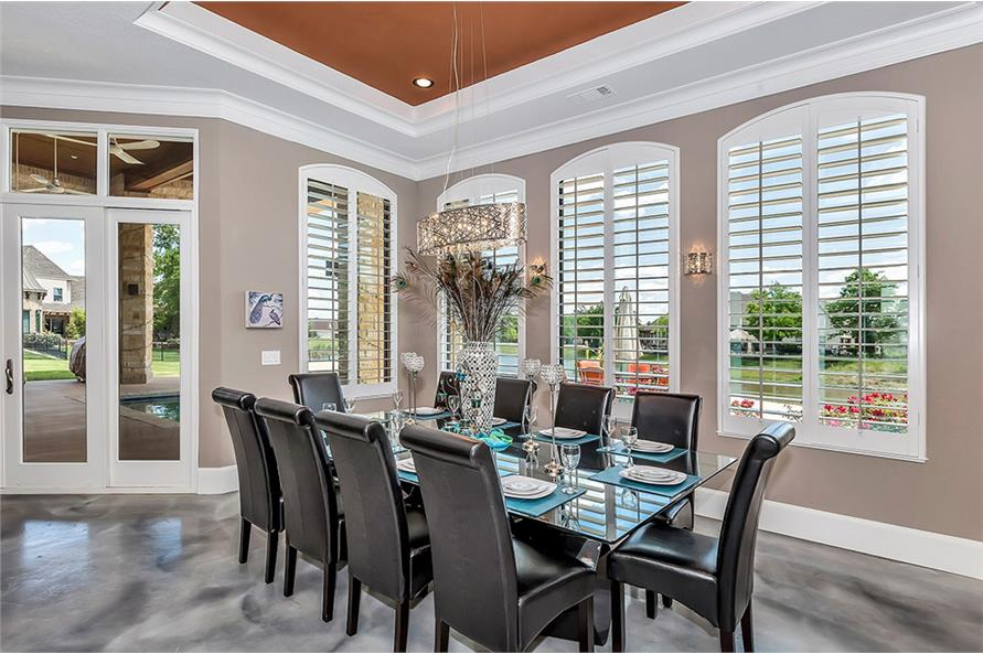 Dining Room of this 5-Bedroom,6121 Sq Ft Plan -6121