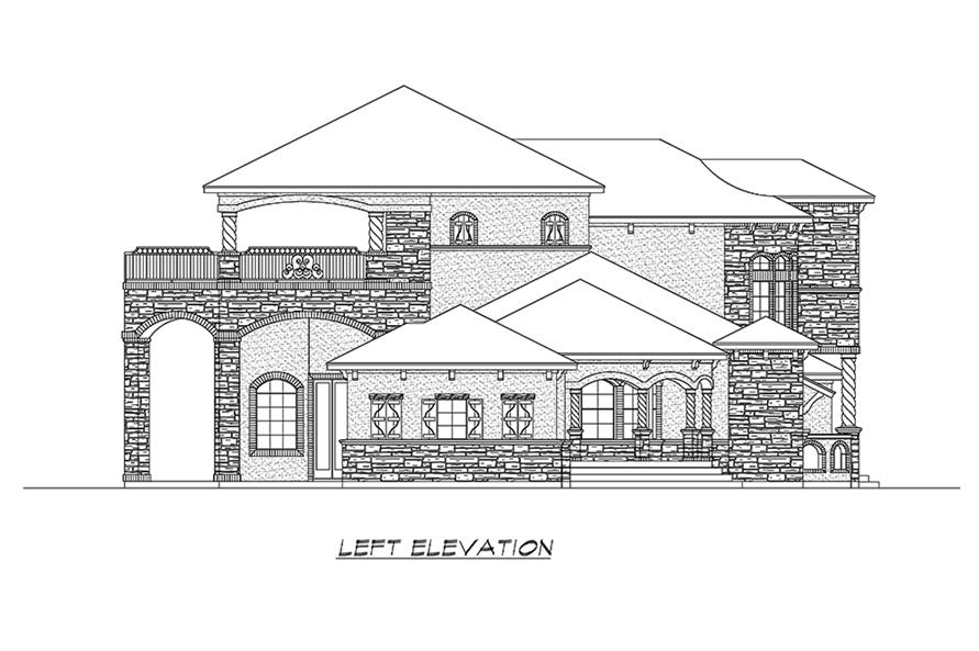195-1173: Home Plan Left Elevation