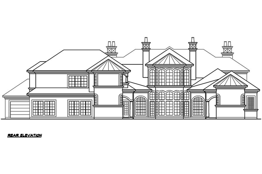 195-1176: Home Plan Rear Elevation