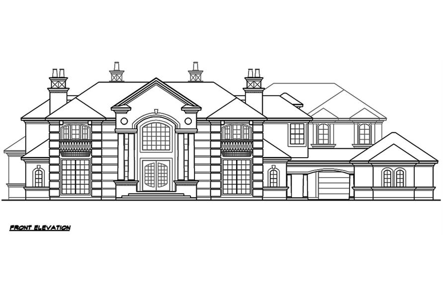 195-1176: Home Plan Front Elevation