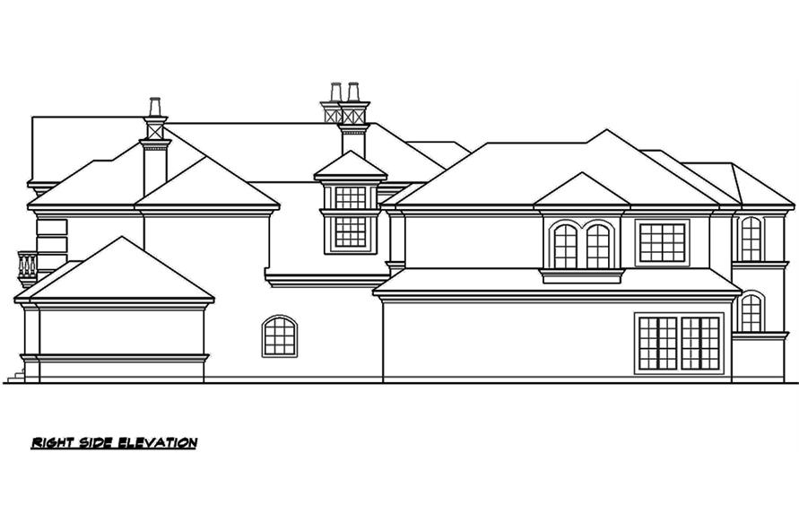 195-1176: Home Plan Right Elevation
