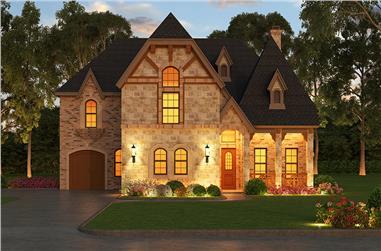 5-Bedroom, 5293 Sq Ft Tudor Home Plan - 195-1177 - Main Exterior