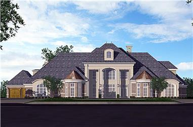 5-Bedroom, 8988 Sq Ft Georgian Home Plan - 195-1180 - Main Exterior