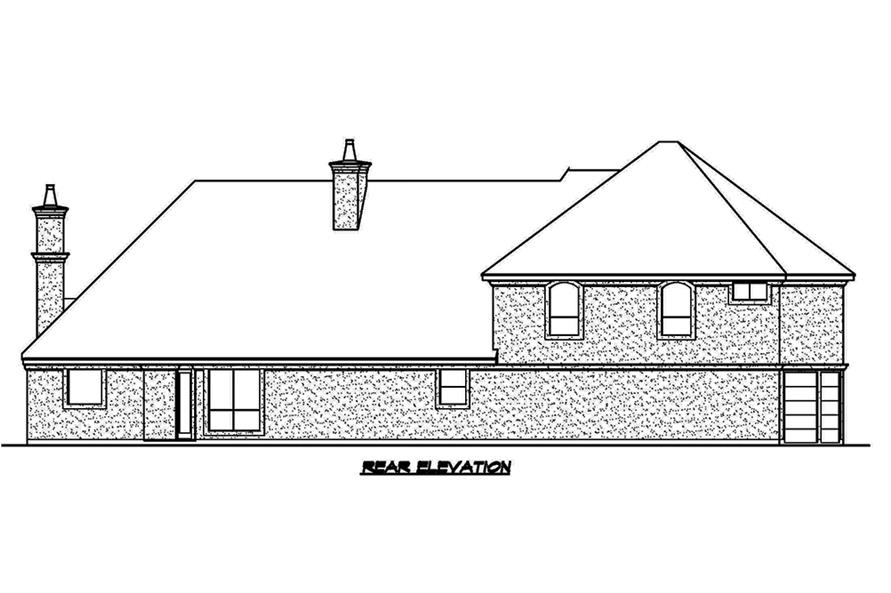 Home Plan Rear Elevation of this 3-Bedroom,4356 Sq Ft Plan -195-1181