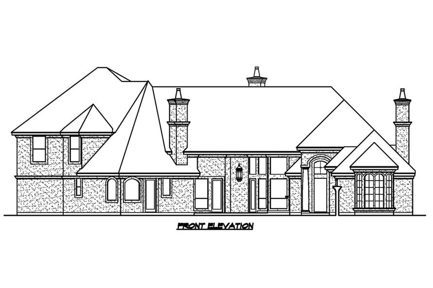 Home Plan Front Elevation of this 3-Bedroom,4356 Sq Ft Plan -195-1181