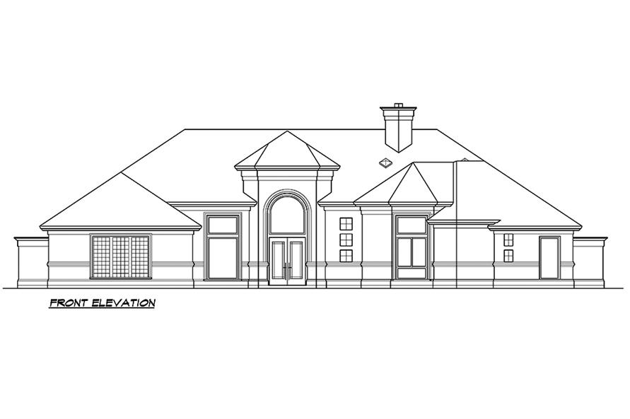 Home Plan Front Elevation of this 3-Bedroom,4085 Sq Ft Plan -195-1182