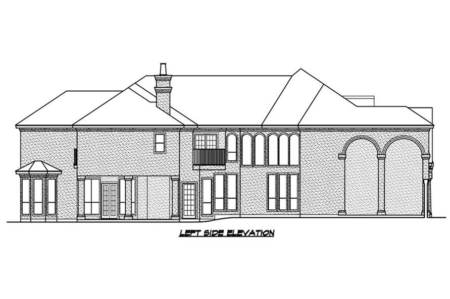 195-1184: Home Plan Left Elevation