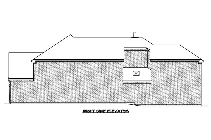 195-1184: Home Plan Right Elevation