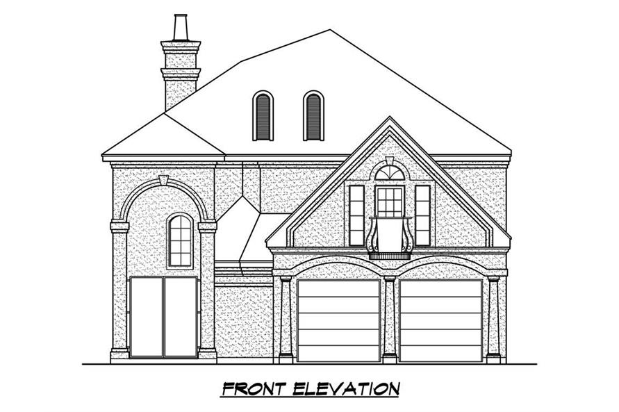 195-1184: Home Plan Front Elevation