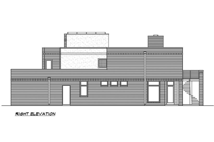 Home Plan Right Elevation of this 4-Bedroom,3785 Sq Ft Plan -195-1185