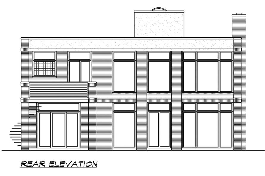 195-1185: Home Plan Rear Elevation
