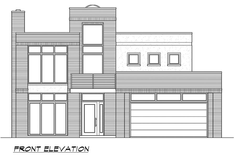 Home Plan Front Elevation of this 4-Bedroom,3785 Sq Ft Plan -195-1185