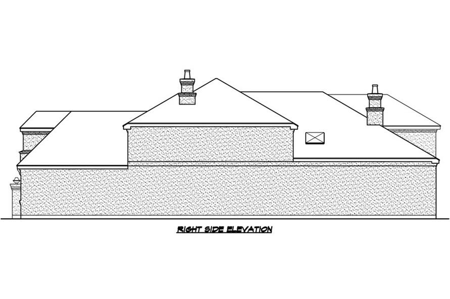 Home Plan Right Elevation of this 3-Bedroom,3979 Sq Ft Plan -195-1187