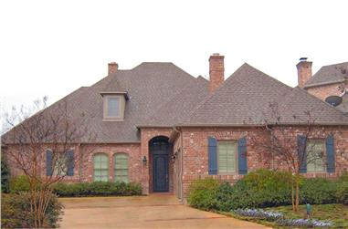 3-Bedroom, 3055 Sq Ft French Home Plan - 195-1188 - Main Exterior