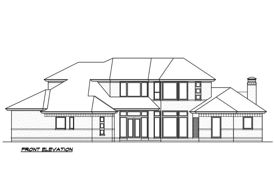 Home Plan Front Elevation of this 3-Bedroom,3240 Sq Ft Plan -195-1189