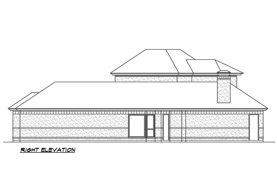Home Plan Right Elevation of this 3-Bedroom,3240 Sq Ft Plan -195-1189