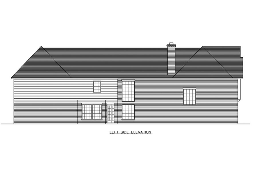 Home Plan Left Elevation of this 8-Bedroom,7416 Sq Ft Plan -195-1193
