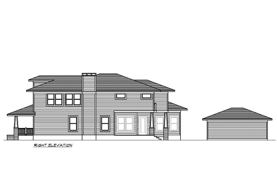 Home Plan Right Elevation of this 4-Bedroom,3245 Sq Ft Plan -195-1195