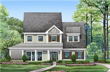 3-Bedroom, 2762 Sq Ft Traditional House Plan - 195-1200 - Front Exterior