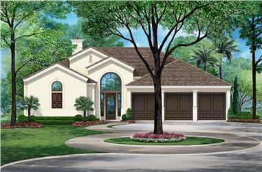 3-Bedroom, 2836 Sq Ft Tudor Home Plan - 195-1202 - Main Exterior