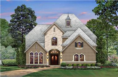 4-Bedroom, 4238 Sq Ft Tudor Home Plan - 195-1204 - Main Exterior