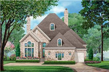 3-Bedroom, 2338 Sq Ft Tudor Home Plan - 195-1205 - Main Exterior