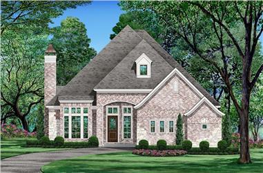 3-Bedroom, 2572 Sq Ft Tudor House Plan - 195-1206 - Front Exterior
