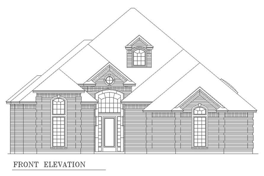 Home Plan Front Elevation of this 2-Bedroom,2867 Sq Ft Plan -195-1208