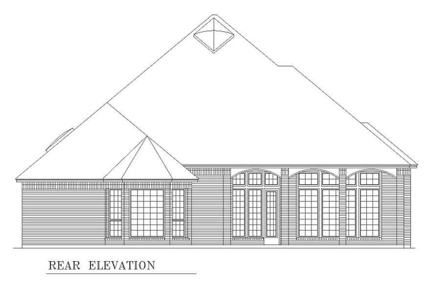 Home Plan Rear Elevation of this 2-Bedroom,2867 Sq Ft Plan -195-1208