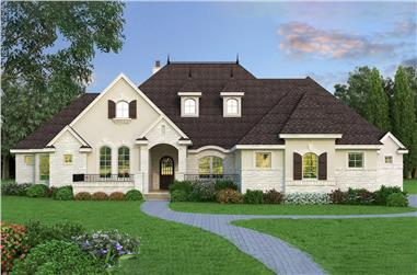 4-Bedroom, 4390 Sq Ft Tudor Home Plan - 195-1210 - Main Exterior