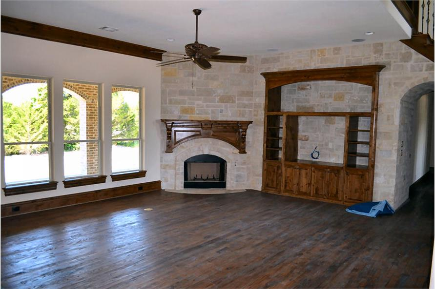 Family Room of this 5-Bedroom,5295 Sq Ft Plan -5295