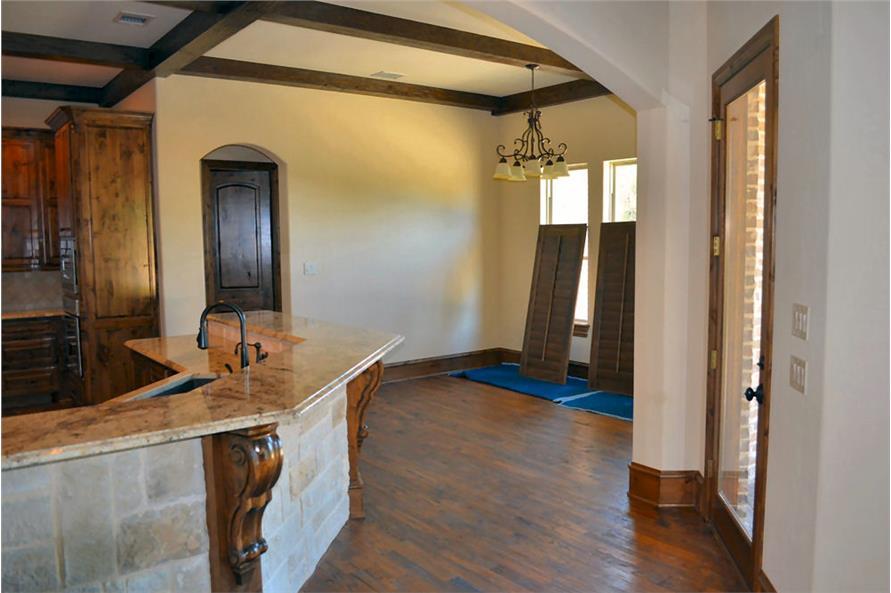Kitchen: Breakfast Nook of this 5-Bedroom,5295 Sq Ft Plan -5295