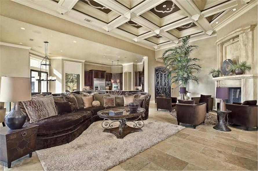 Family Room of this 5-Bedroom,7587 Sq Ft Plan -7587