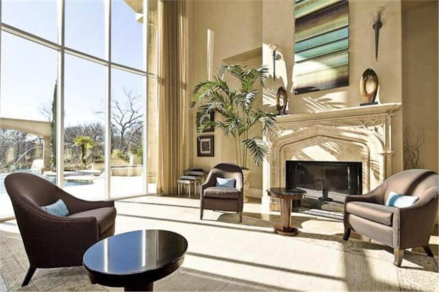 Living Room of this 5-Bedroom,7587 Sq Ft Plan -7587