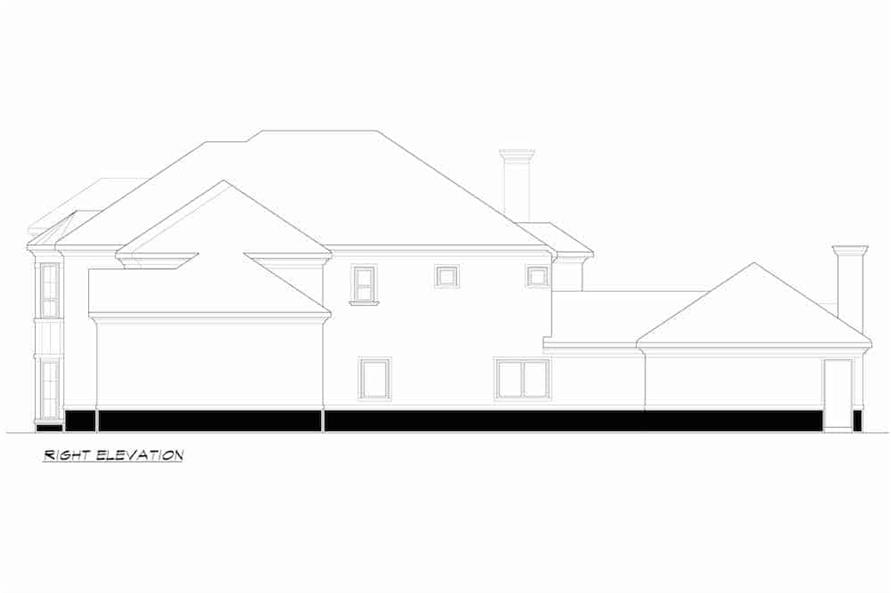 Home Plan Right Elevation of this 4-Bedroom,4998 Sq Ft Plan -195-1218
