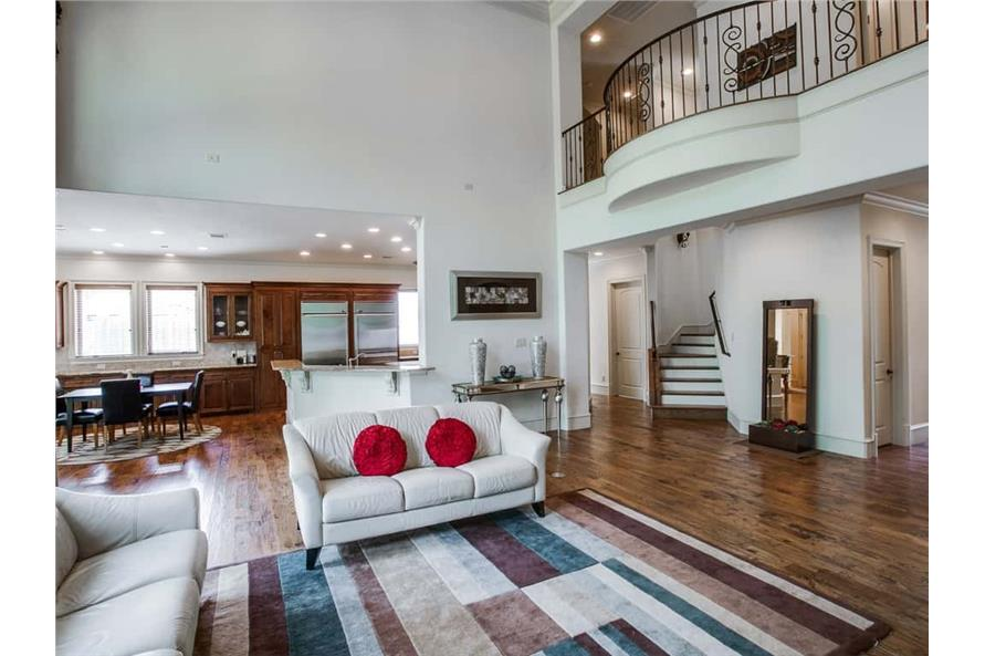 Family Room of this 4-Bedroom,5300 Sq Ft Plan -5300