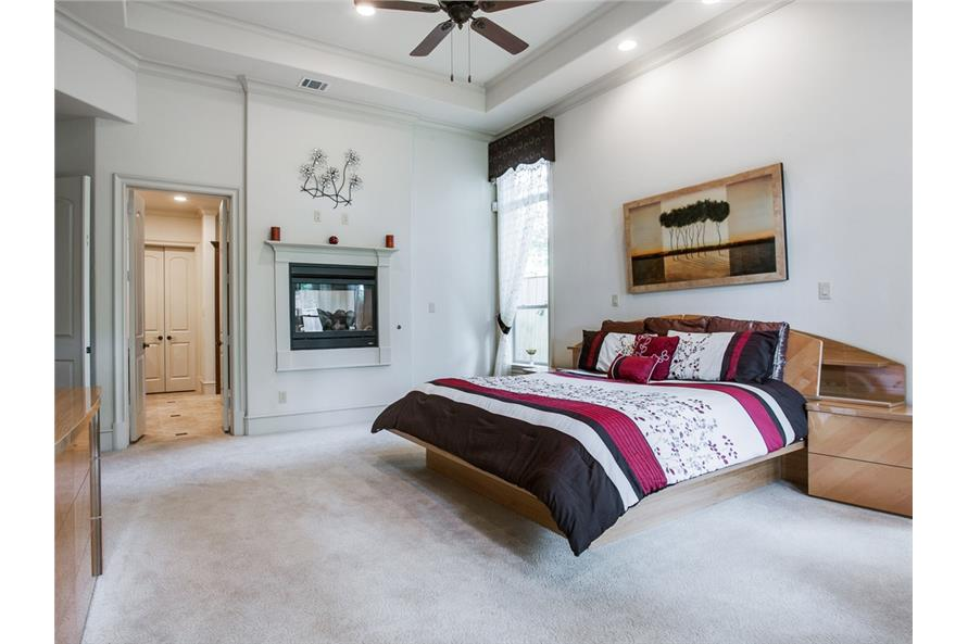 Master Bedroom of this 4-Bedroom,5300 Sq Ft Plan -5300