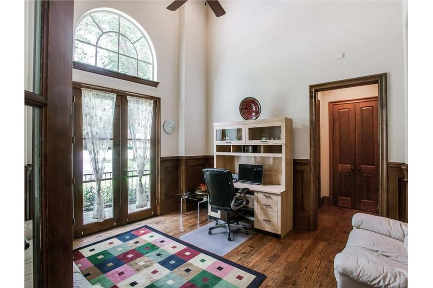 Home Office: Library of this 4-Bedroom,5300 Sq Ft Plan -5300