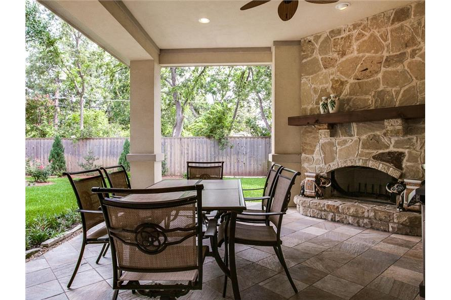 Patio of this 4-Bedroom,5300 Sq Ft Plan -5300