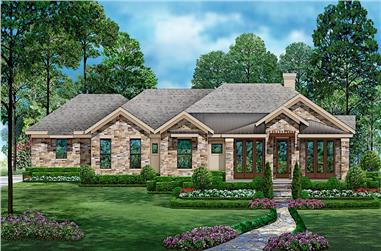 3-Bedroom, 2815 Sq Ft Rustic House - Plan #195-1220 - Front Exterior