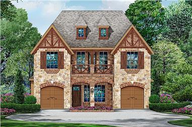 3-Bedroom, 3827 Sq Ft Tudor House - Plan #195-1221 - Front Exterior