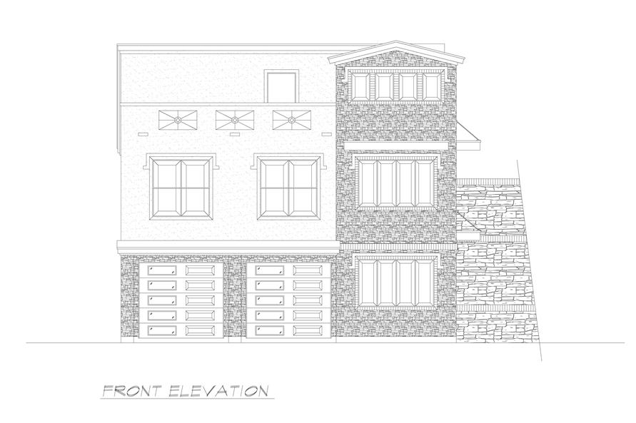 Home Plan Front Elevation of this 3-Bedroom,2537 Sq Ft Plan -195-1224