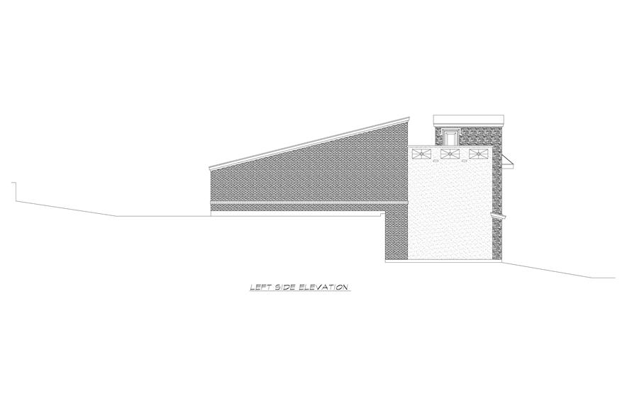 Home Plan Left Elevation of this 3-Bedroom,2537 Sq Ft Plan -195-1224