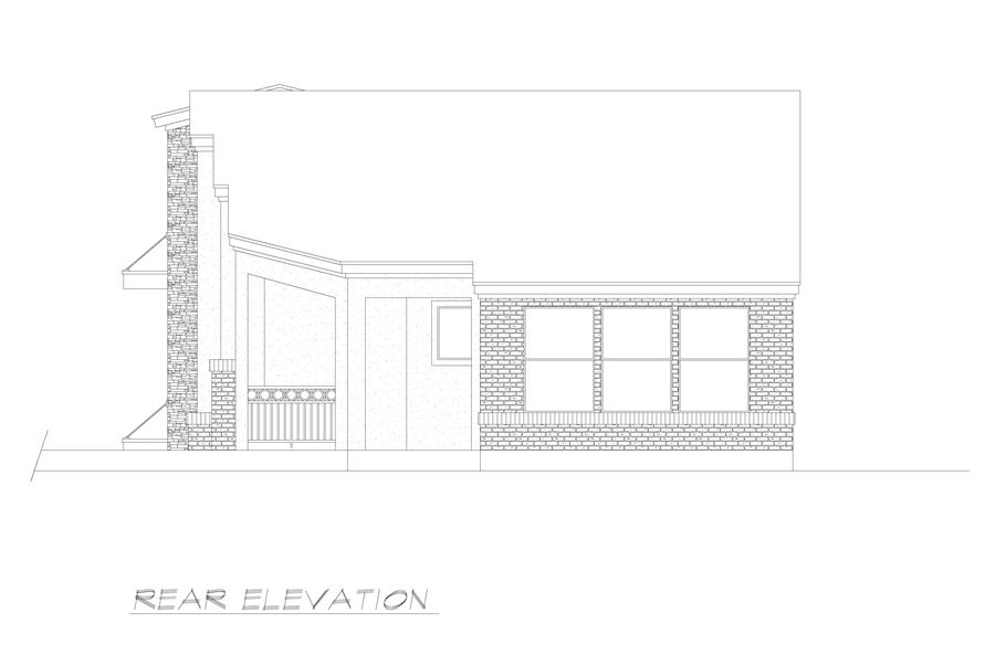 Home Plan Rear Elevation of this 3-Bedroom,2537 Sq Ft Plan -195-1224